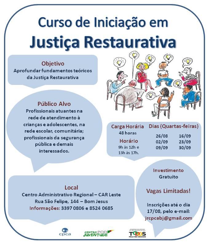Folder Curso  Iniciação JR Bom Jesus 2015 - Divulgação
