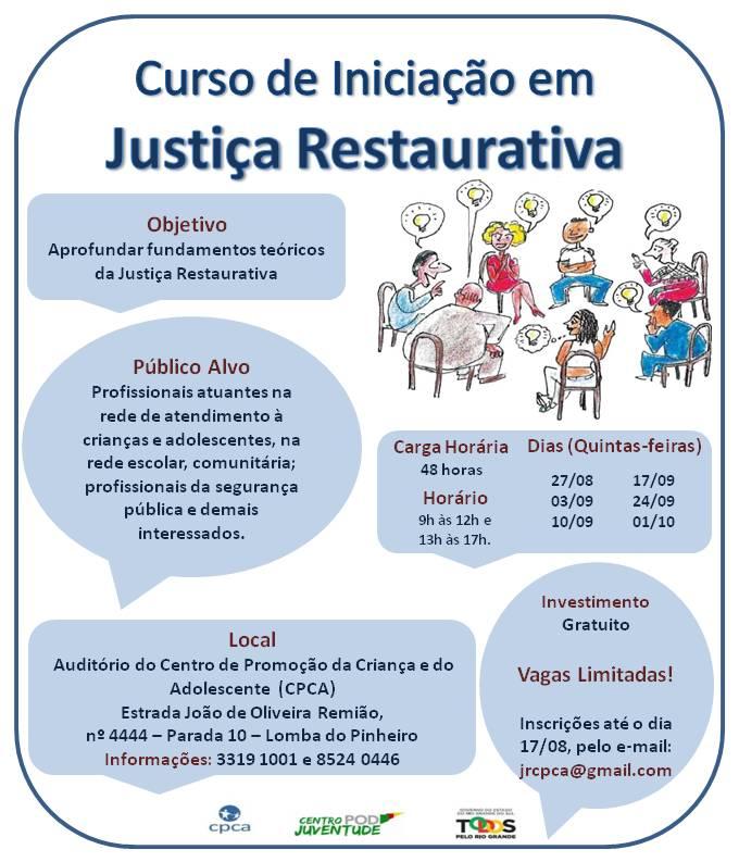 Folder Curso  Iniciação JR Lomba 2015 - Divulgação